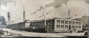 Architect's drawing of the new Reliance Manufacturing Plant for Columbia in 1932.